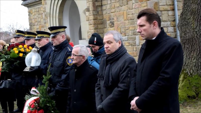 Pogrzeb szczątków żołnierzy niemieckich z I wojny światowej na cw nr 91 w Gorlicach.