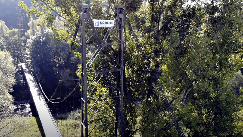 Gorlice widziane z wysokości szczytu mostu